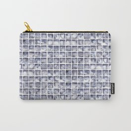 Paynes Grey Watercolor Tile Pattern Carry-All Pouch
