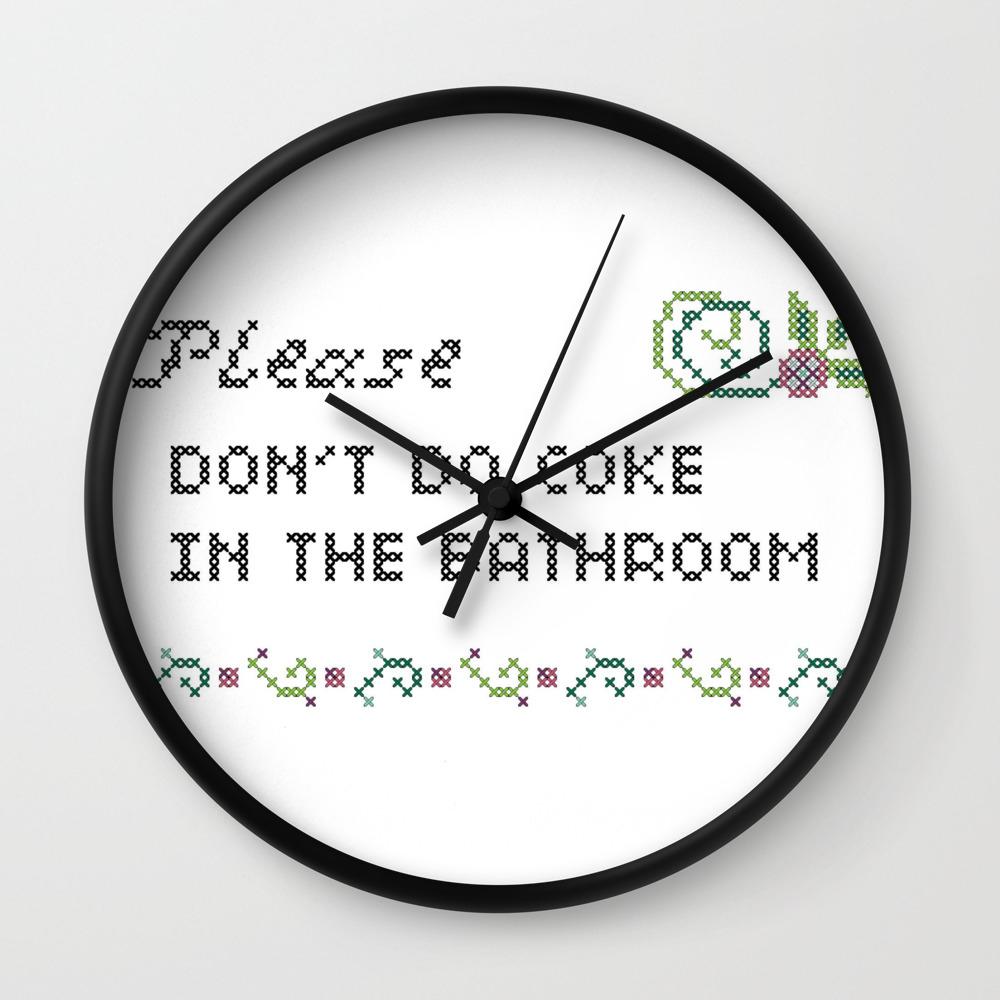 Please Don T Do Coke In The Bathroom Wall Clock By Rebellecherry