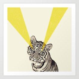beam me up tiger Art Print