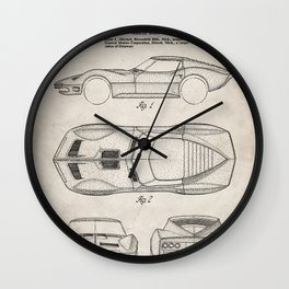 Classic Car Patent - American Car Art - Antique Wall Clock