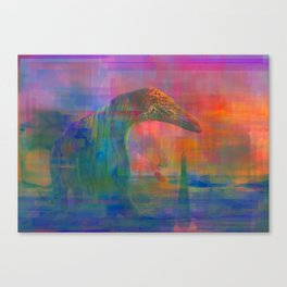 TIGERS, SNAKES AND QUIETGAMES, art piece about a psychedelic stoll through the ocean Canvas Print