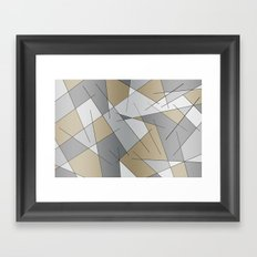 ABSTRACT LINES #1 (Greys & Beiges) Framed Art Print