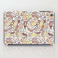 otters iPad Cases featuring Adorable Otter Swirl by KiraKiraDoodles