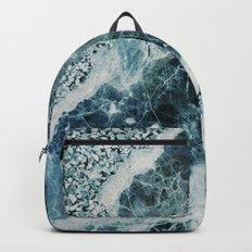 Blue Sea Marble Backpack