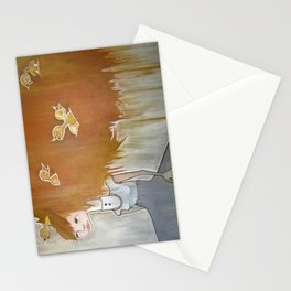 feather brain Stationery Cards