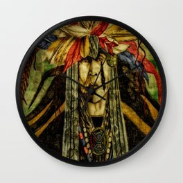 Crying Indian Wall Clock