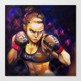 Arm Bar Queen Canvas Print