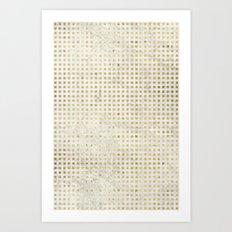 gOld squares Art Print