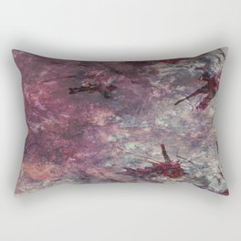 watercolors with splashes Rectangular Pillow