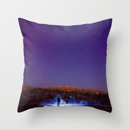 Exploring the night Throw Pillow