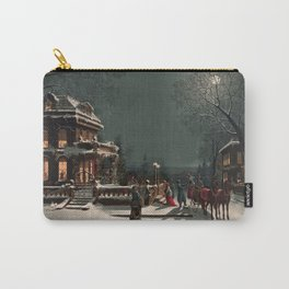 Christmas vintage  illustration Carry-All Pouch