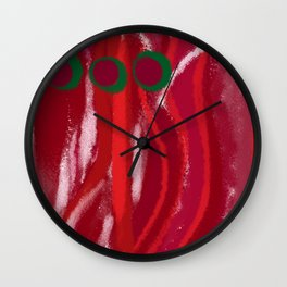 Red Session 2 Wall Clock