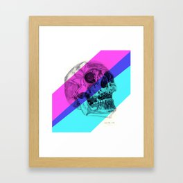 Skull pencil drawing with colour Framed Art Print