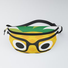 Pinapple Dad Pineapple with Mustache and Glasses Fanny Pack