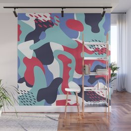 Camo Art Abstract Design Wall Mural
