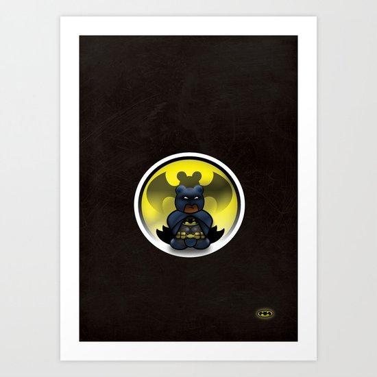 Super Bears - the Moody One Art Print