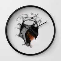 carnage Wall Clocks featuring Carnage CloneTrooper by Josh Belden