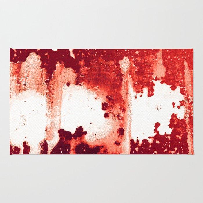 Bloodred Splashes Rug