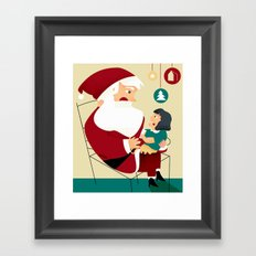 SANTA IS COMING TO TOWN Framed Art Print