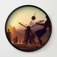 brasil Wall Clocks featuring Brasil by afzucatti