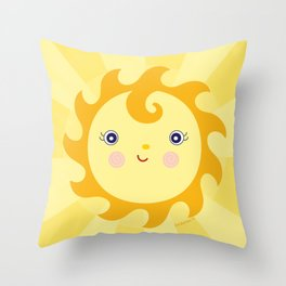 Sunny Sunshine Throw Pillow