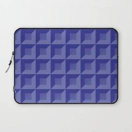 Light blue, blue and light violet squares and triangles tiles Laptop Sleeve
