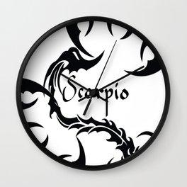 Scorpio Tribal Wall Clock