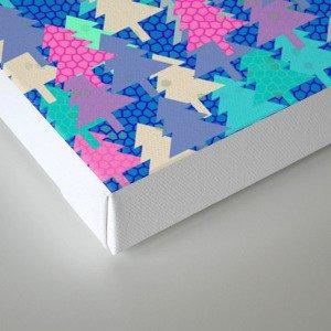 Colorful fir pattern II Canvas Print