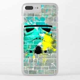 Stormtrooper Graffiti Clear iPhone Case