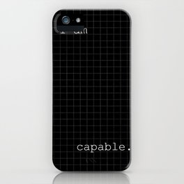 I Am Capable iPhone Case