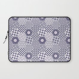 Spanish Tiles of the Alhambra - Violets Laptop Sleeve