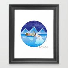 I {❤} XX Eskimo Kisses Framed Art Print