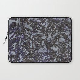 Black and White Ink on Purple Background Laptop Sleeve