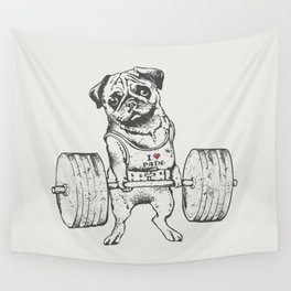 Pug Lift Wall Tapestry