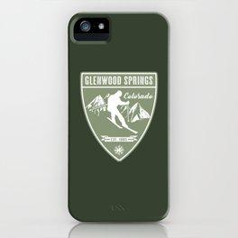 Ski Glenwood Springs Colorado iPhone Case