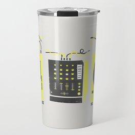 DJ Vinyl Decks And Mixer Travel Mug