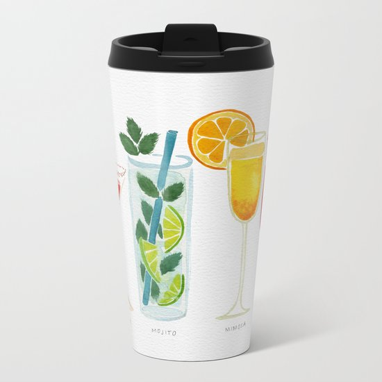 Summer Cocktails Metal Travel Mug