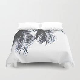 Palm Tree leaves abstract Duvet Cover