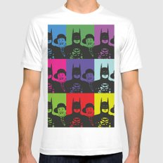 Bat-man Michael Keaton, Joker Jack Nicholson POP ART MEDIUM White Mens Fitted Tee