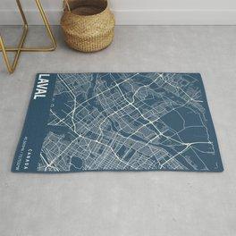 Laval Blueprint Street Map, Laval Colour Map Prints Rug