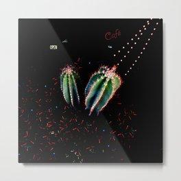 Night Cactus Metal Print