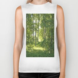 Beautiful Morning Summer Greenery #decor #society6 #buyart Biker Tank