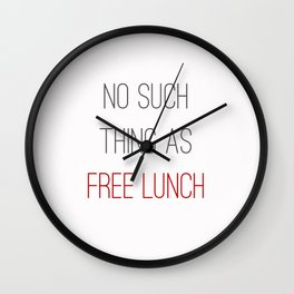 FREE LUNCH 2 Wall Clock