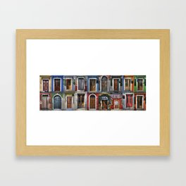 Italian doors Framed Art Print