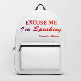 excuse me i'm speaking kamala harris Classic Backpack