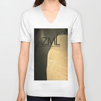 tomb raider V-neck T-shirts featuring Tomb by ZML Zealous Modern Living