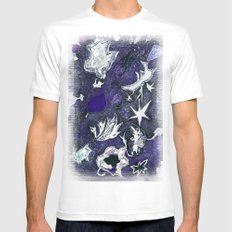 snow flurry MEDIUM Mens Fitted Tee White