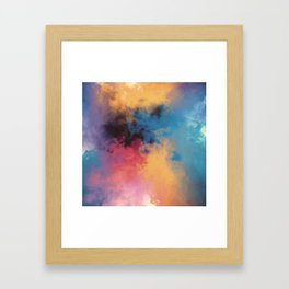 Golden Virus Framed Art Print