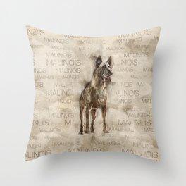 Belgian Malinois - Mechelaar  - Maligator Throw Pillow