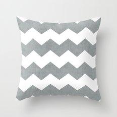 chevron - gray Throw Pillow